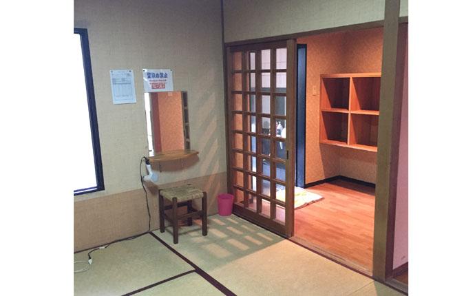 改修前の家族風呂は和風旅館の趣でした。