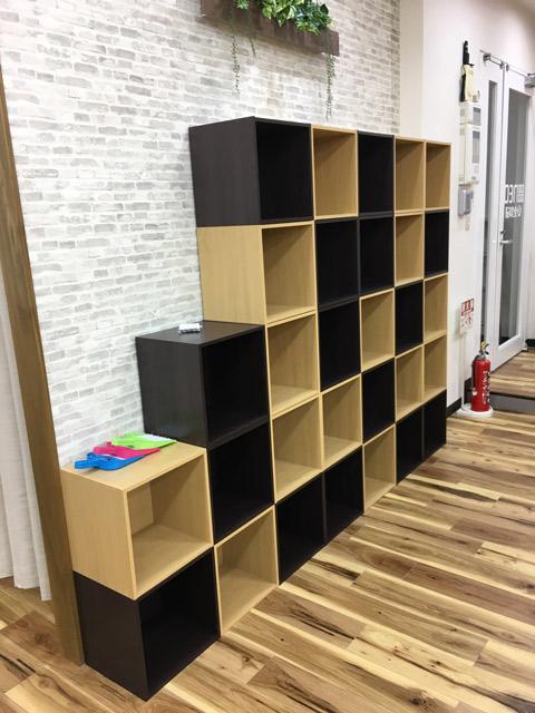 BOXを組んだ収納スペース